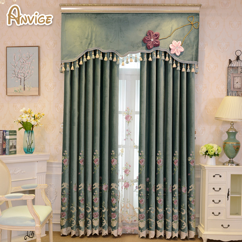 Anvige Valance European Royal Luxury Valance Curtains for Girl Room Window Curtains for Bedroom Valance Curtains Kid Room
