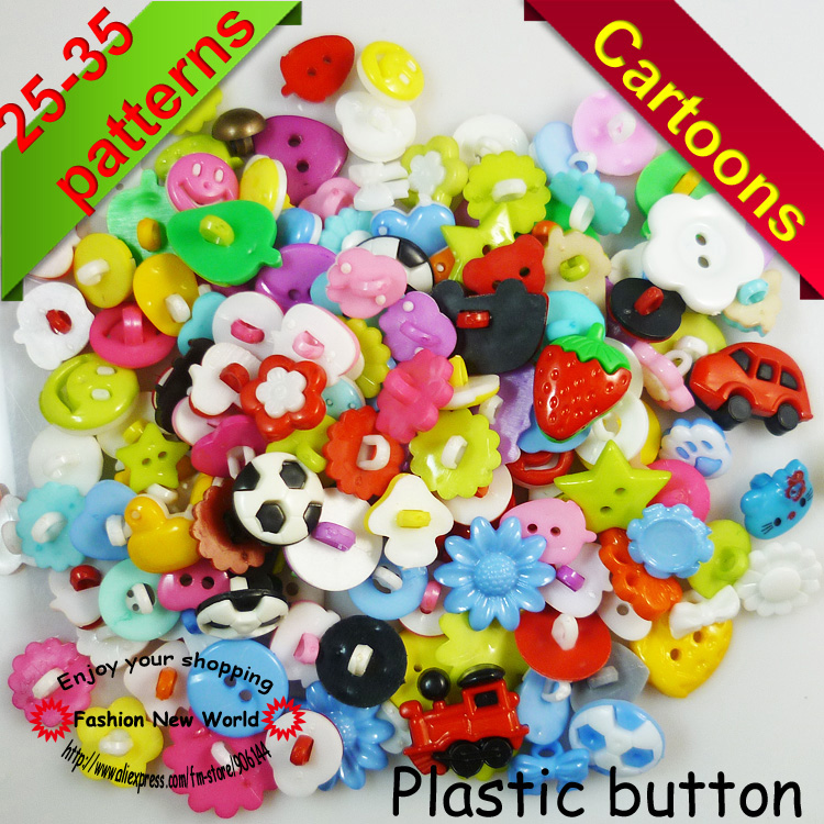 30PCS mixed Dyed Plastic buttons coat boots sewing clothes accessories P-029a