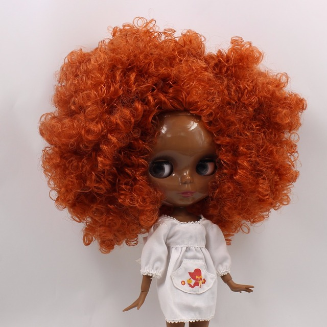 TBL Neo Blythe Doll Black Skin Brown Hair Jointed Body
