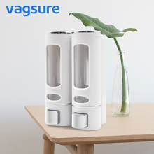 Visible Quality ABS Wall Mounted High Capacity 400ml/Bottle Shampoo Liquid  Soap Dispenser For Bathroom Shower Bath Accessories