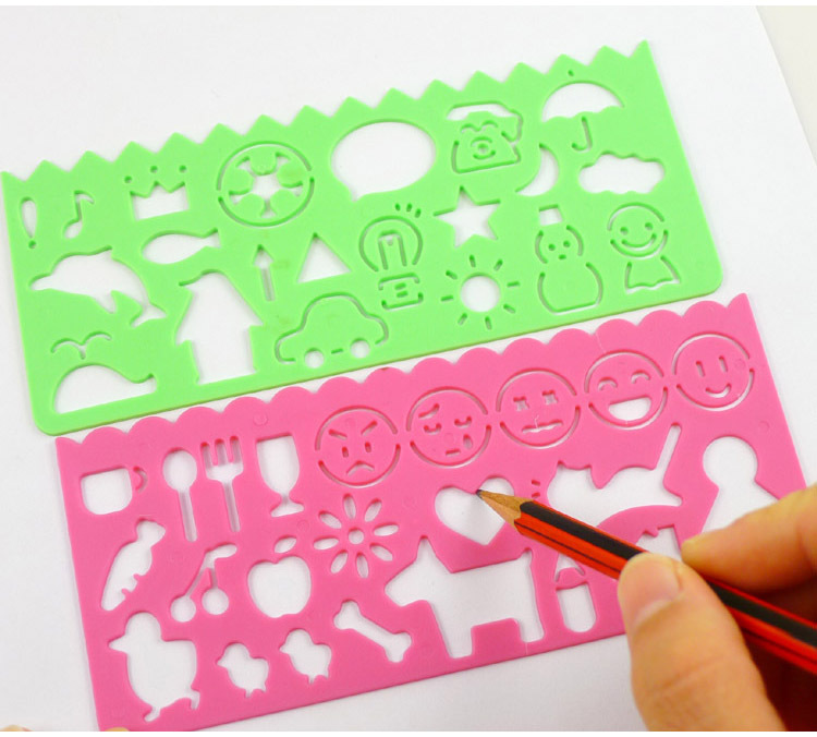 aliexpresscom buy 4pcslot kids diy plastic picture drawing template set childrens stencils for painting free shipping from reliable children stencil