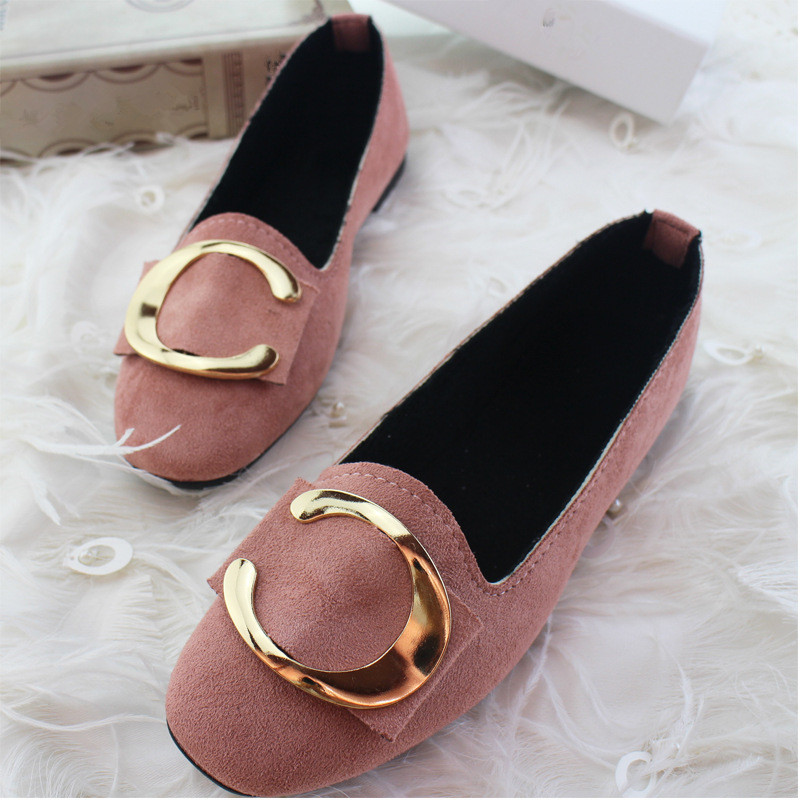 Big Size Women Flats Shallow Candy Color Shoes Woman Loafers Autumn Winter Fashion Sweet Flat Casual Comfortable Plus Size 35-42