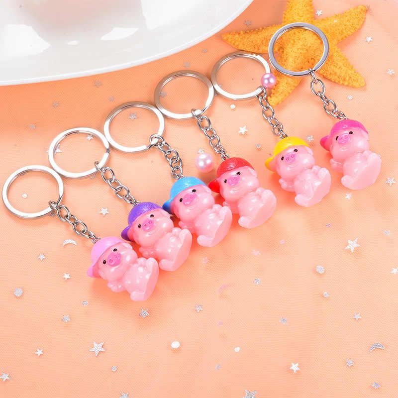 Sitaicery bonito chaveiro charme porco chaveiros presente de natal para mulheres meninas saco pingente novo chaveiro jóias acessório trinket