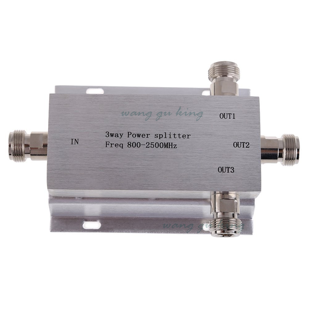 Power Divide 800~2500MHz N 3-way RF Power Splitter For GSM CDMA DCS 3g Signal Booster