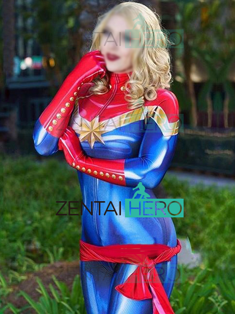 25e743c6180 Free Shipping 3D Printing Ms.Captain Marvel Carol Danvers Cosplay Costume  Women Superhero Costume Zentai Catsuit For Halloween