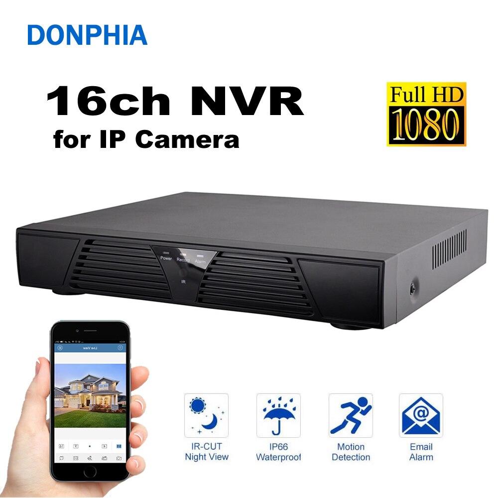 16ch NVR 1080 p Réseau Vidéo Enregistreur Vidéo Connecter IP Caméra de Surveillance Système de Sécurité DVR