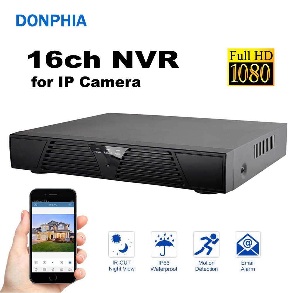 16ch NVR 1080 P сетевой видеомагнитофон видео подключение ip-камера система видеонаблюдения DVR