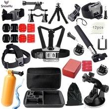 Gopro accessories set for go pro hero 4 3 2 1 Black Edition SJ4000 SJ5000 camera case xiaoyi chest tripod GS26