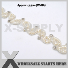 Bridal-Sash Embroidered for Wedding-Dress Belt Curtains Beaded Pearl Crystal Luxury