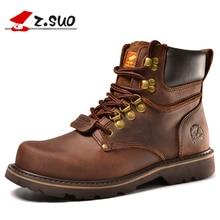 Z. botas dos homens Suo. moda primeira camada de botas de couro dos homens, botas de ferramentas de alta qualidade do homem, botas hombre zs16508