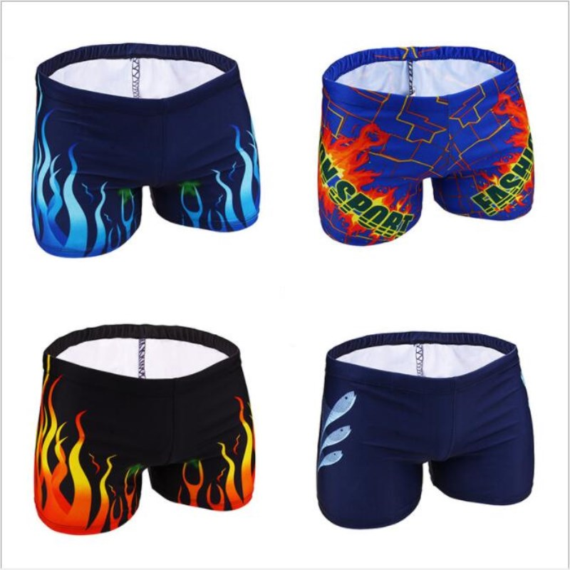 Mens Briefs WSwim Shorts Quick-Drying Swimming Trunk 2018 Men Multicolour Surfing Swimwear Sport Beach Boxer Shorts Plus Size