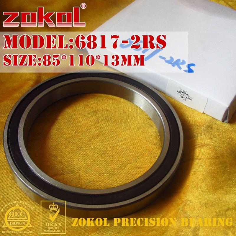 ZOKOL 6817-2RS bearing 6817 2RS 1000817 (61817) Deep Groove ball bearing 85*110*13mm selenga t71d