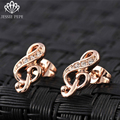 Jessie Pepe Italina Music Note Stud Earrings Brincos With Austrian Crystal Stellux Free Shipping WelcomeWholesale#JP85686