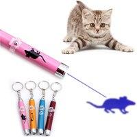Creative Funny Pet LED Laser Speelgoed Kat Laser Speelgoed Voor Katten Laser Kat Pointer Pen Interactieve Speelgoed Met Heldere Animatie muis Shadow