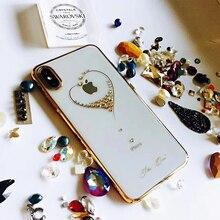 Kingxbar KAVARO dżetów skrzynka dla Apple iPhone X/ XS/ XS MAX/ XR przypadki diamentowe kryształy Element pokrywa dla iPhone XS MAX sprawa