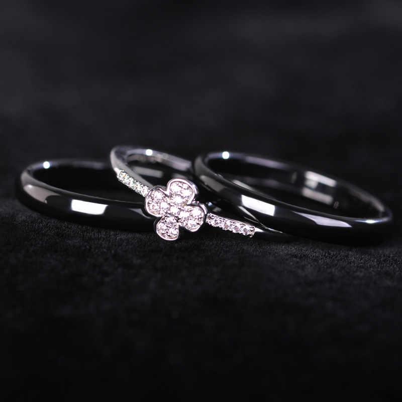 Dazz שלושה Aros אצבע טבעות לנשים איש חתונה זירקון Rhinestones פורצלן תכשיטי אביזרי עבור מתנות Anell Joyas