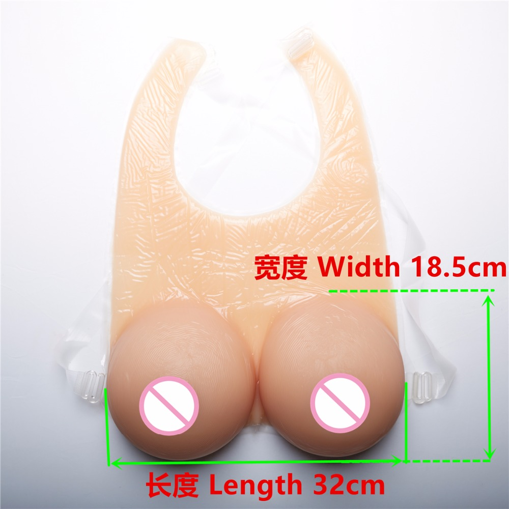 2400g  Large Boob Suntan Color Strap-on Breast Form Artificial Breasts Soft Silicone Fake Boobs Crossdress Bust H Cup2400g  Large Boob Suntan Color Strap-on Breast Form Artificial Breasts Soft Silicone Fake Boobs Crossdress Bust H Cup