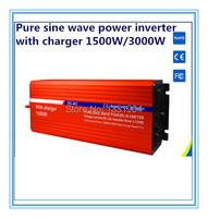 12V To 220V 1500W Pure Sine Wave Power Inverter With Buildin Charger With Automatic Transfer For