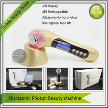 Free Shipping Galvanic Ultrasonic Photon Therapy Microcurrent Face Lift Facial Appliance Beauty Instruments
