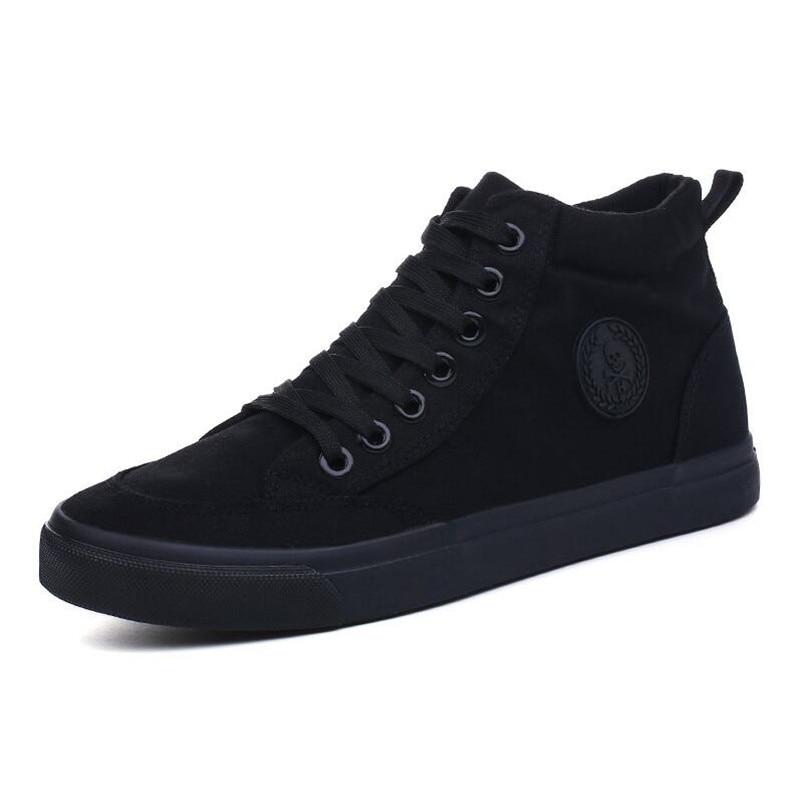 Nouveau Noir High Mode Été Chaussures Casual Top 203 Xx 2018 Noir white Black Sneakers Toile Marque blanc Printemps Hommes De XiTwOkZPu