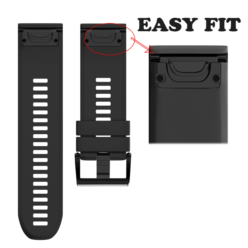 Strap Garmin Fenix Replacement Smart-Accessories Soft-Band DHL for 5/5s/5x/Gps 100pcs