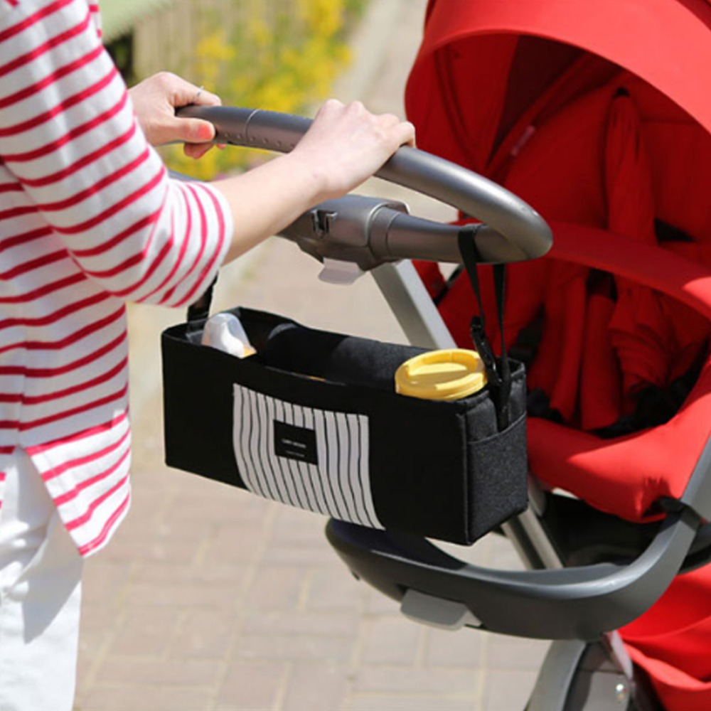 Baby Stroller Hanging Bag Carrier Nipple Diaper Bottle Storage Cart Organizer Portable Outdoor Newborn Supplies Multi Function