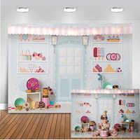 Neoback batonik tło dla fotografii słodki Shoppe na imprezę tematyczną lub urodzinową Banner tło dekoracji dla Photo Studio 403