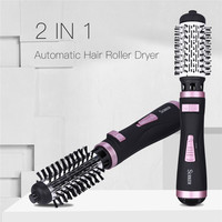 Professional Hair Dryer Curler Comb 2 In1 Multifunction Hair Styling Tools Hairdryer Automatic Rotating Hair Brush