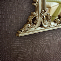 Alligator Pattern PVC Wallpaper Waterproof Thickened Stereoscopic Deep Embossed Wall Paper Roll Modern Living Room TV