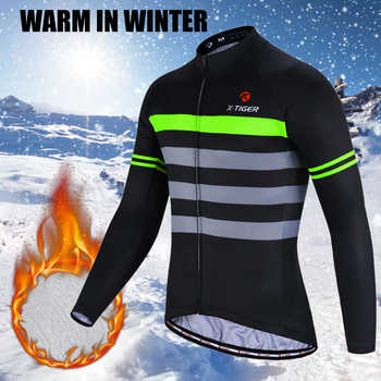 X-Tiger Winter Thermal Fleece Cycling Jersey Set Maillot Ropa Ciclismo Long Sleeve Mountian Bike Wear Keep Warm Bicycle Clothing