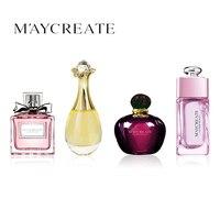MayCreate 4Pcs Set Women Perfume Lasting Fresh Fragrance Liquid Perfumes Deodorant Lady Perfumes Portable Perfume Atomizer