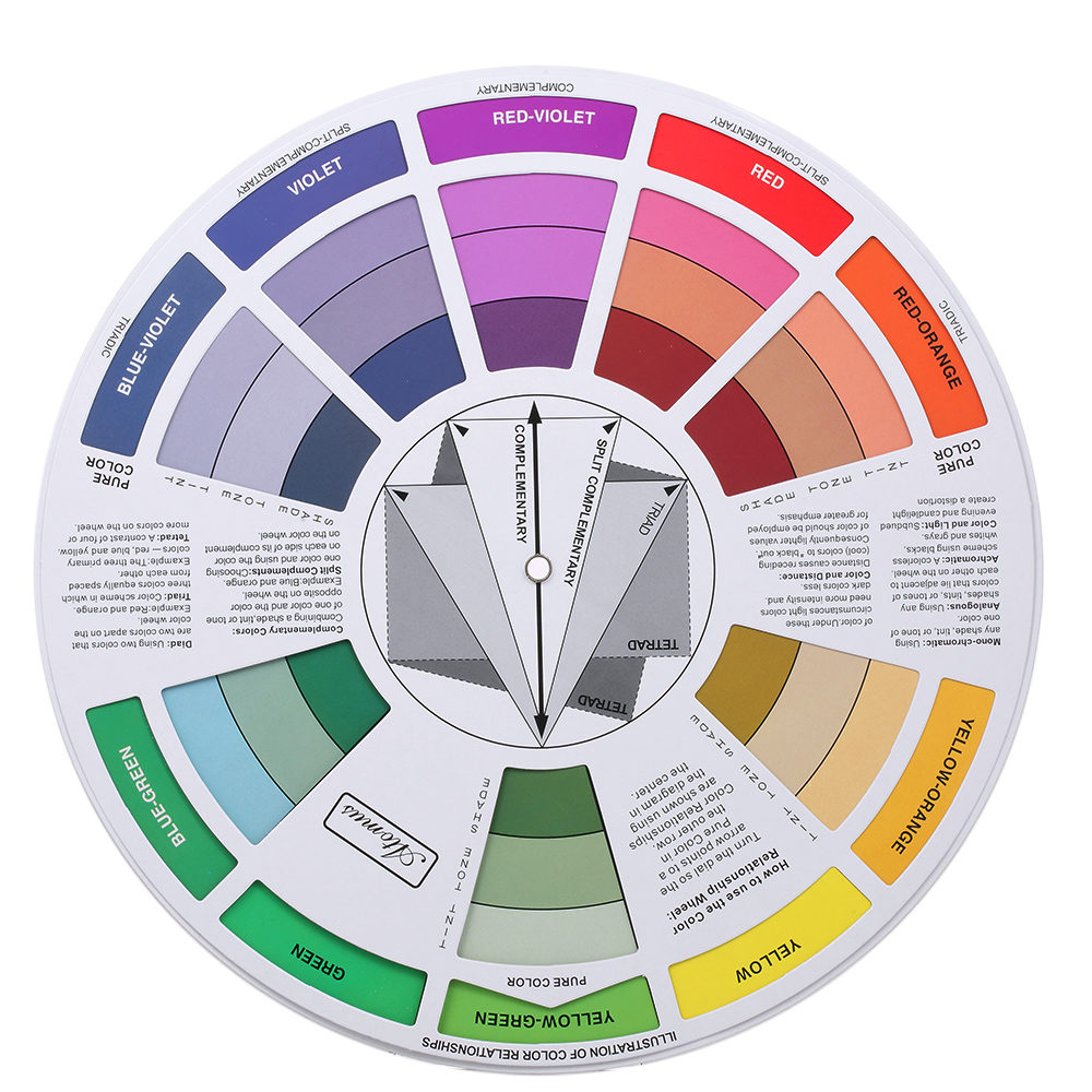 Online Shop Tattoo Pigment Color Wheel Chart Supplies