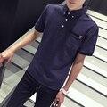 Лето рубашки Поло с коротким рукавом мужчины xxxxl xxxxxl xxxxxxl xxxl Плюс размер Тонкий Красный Зеленый Темно-синий цвет