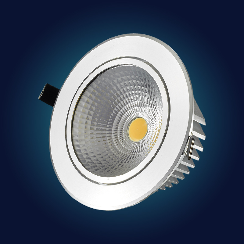 4 pcs Super Bright Recessed LED Dimmable Downlight COB 9W 12W 15W 18/21W LED Spot light LED decoration Ceiling Lamp AC 110V 220V 7w 10w 12w 15w 20w 30w led cob downlight non dimmable recessed led ceiling lamp spot light led bulb lamp light rotate 369 degree