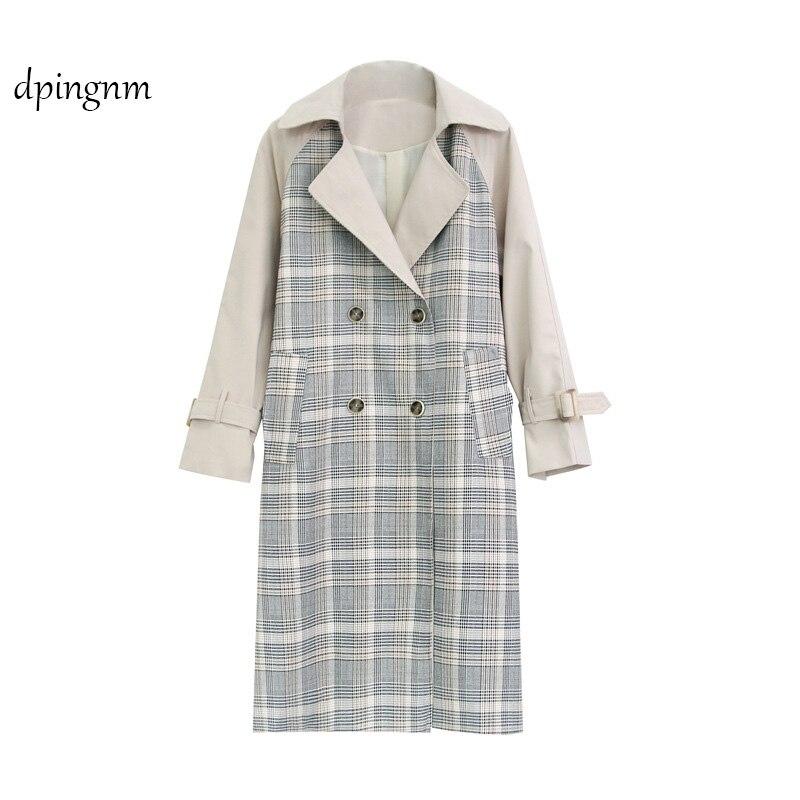 0 Manteau Style Tranchée Femmes Hiver Britannique Pour Dpingnm Manteaux Marque Outwear Longue Casaco Double Solide breasted Automne Feminino dCrBxoe