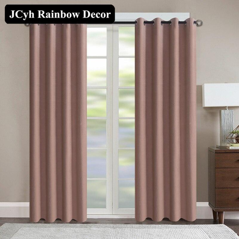 Modern Velvet Blackout Curtains For The Living Room Solid
