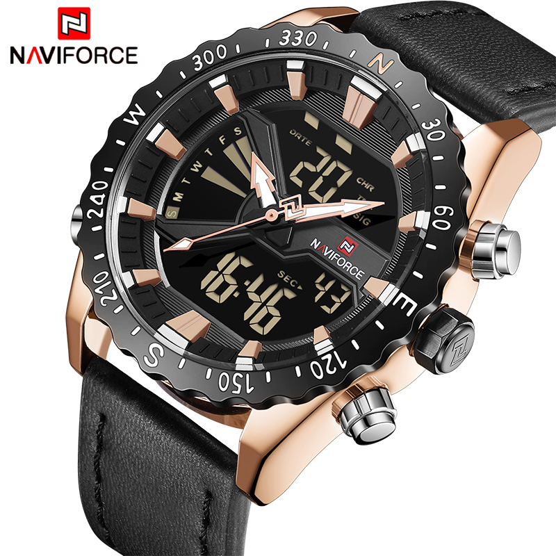 Top Luxury Brand NAVIFORCE Men Sport Military Watches Men's Quartz Clock Analog Digital Waterproof Wrist Watch Relogio Masculino все цены
