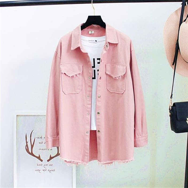 Autumn Spring Denim Blouses Women Korea Fashion Loose Nine Quarter Sleeve Shirts Women Tops Jeans Blouse Female Ladies Blusa
