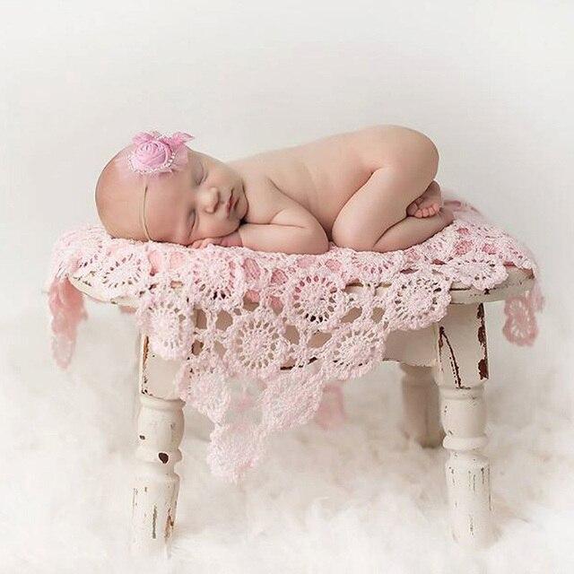 45*50cm Crochet Wraps Knitted Blankets newborn fotografia baby newborn Props Baby photography props Birthday Gift fotografia