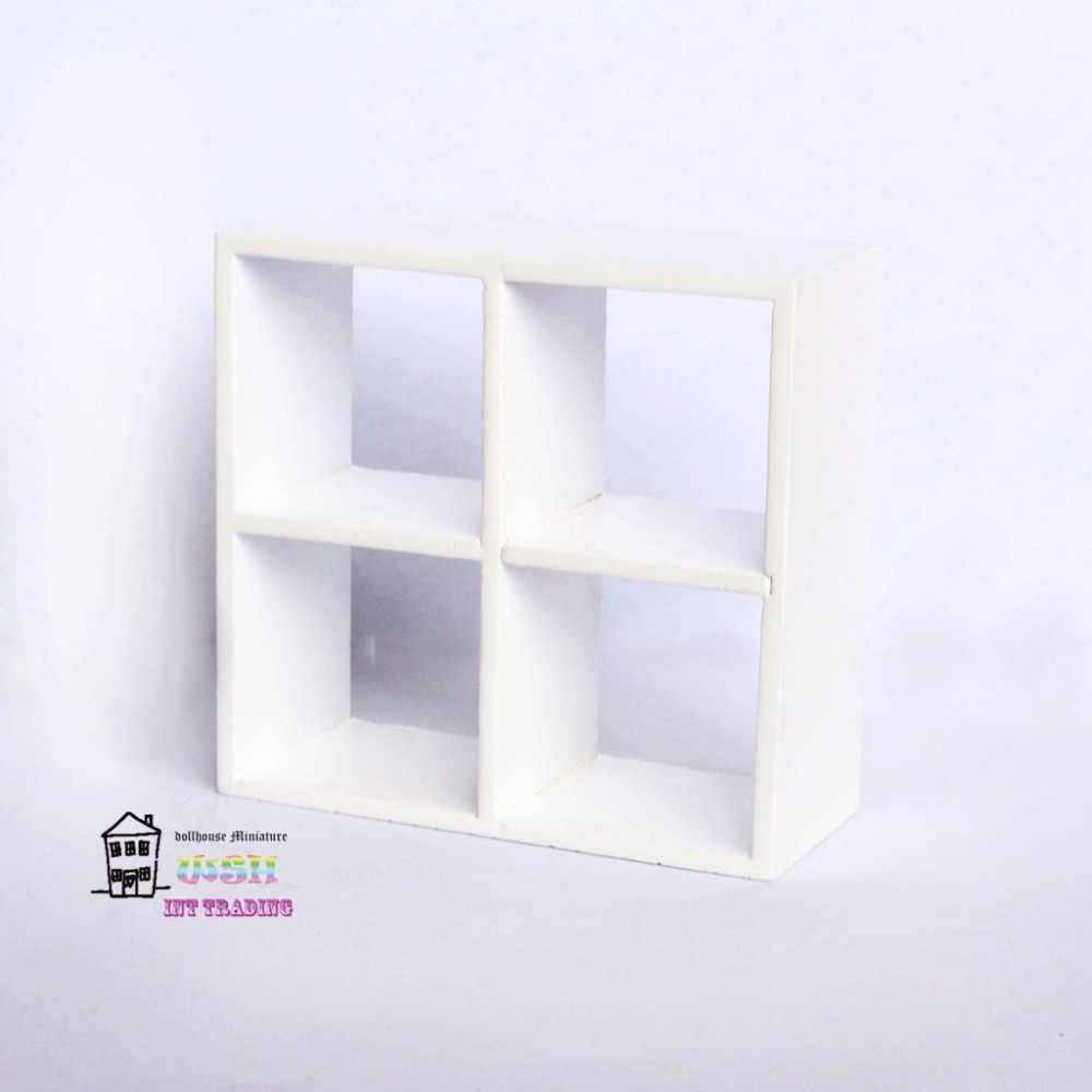 "Dollhouse Miniature 3.35"" Dolls Furniture 1/12 White Trellis Square Drawer Beautiful decorations 3PCS"