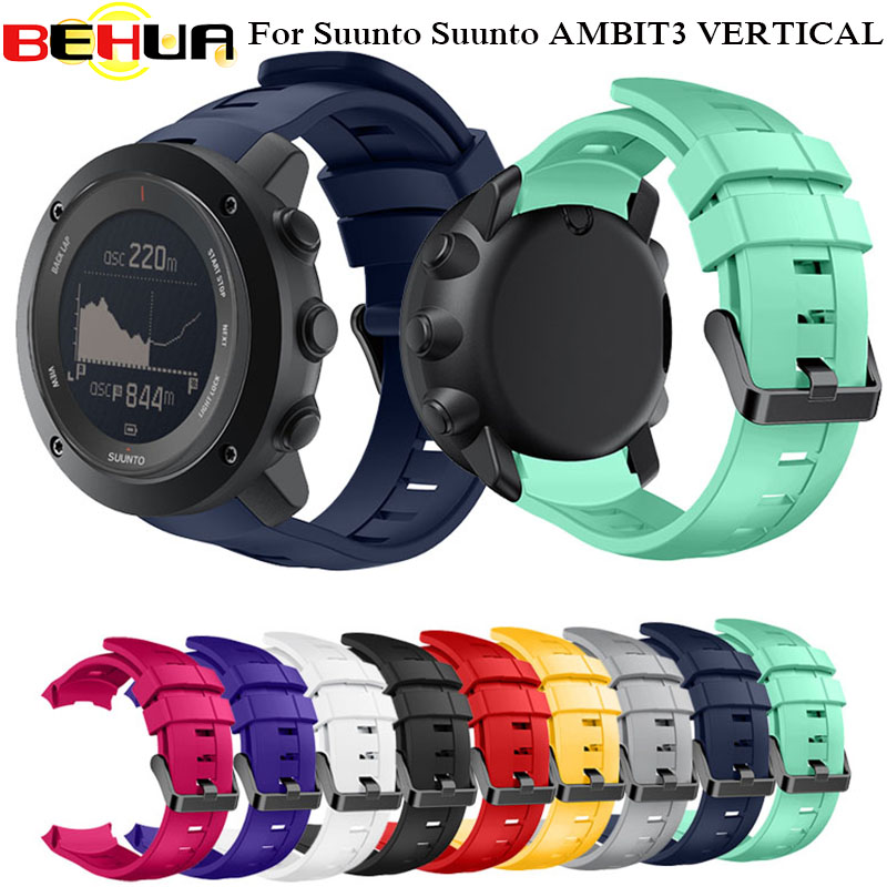 Silicone Watch Strap band for Suunto AMBIT3 VERTICAL Wristband for Suunto Traverse/Alpha/Spartan Replacement Straps with Tools стоимость