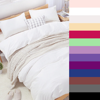 600TC Cotton Luxury Solid Color Bedding Sets Custom Size Printed Duvet Quilt Cover Set King Queen