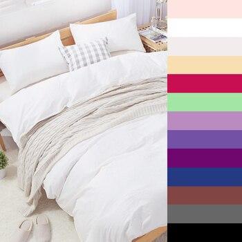 600TC Cotton Luxury Solid color Bedding sets Custom size Printed Duvet Quilt Cover set King Queen Size 2/3PCS White Bedclothes