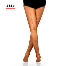 Rhinestone Latin Tights Women Professional Fishnet Ballroom&Latin Dance Hard Yarn Elastic back line Pantyhose