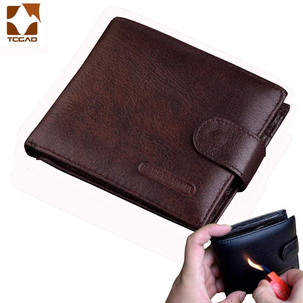 Men's Wallet Made Of Genuine Leather Wallet Short Hasp Carteira Masculina Purse 2019 Luxury Male Billetera Hombre Erlek Czdan