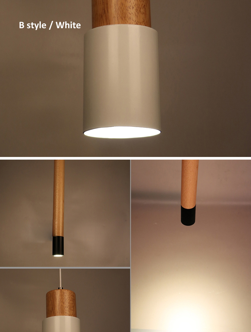 Modern lamp brief minimalist creative wood 6