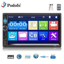 Podofo 2 din Автомагнитолы 7 «HD Авто радио мультимедиа плеер Авто Стерео Bluetooth USB SD MP5 2din радио автомобиля видео Backup Monitor