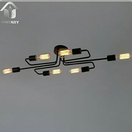 American style black iron art loft industrial ceiling light bar coffee shop branches retro nostalgic ceiling light lamp modern magic beans dna iron loft glass ceiling light bar coffee shop branches retro bedroon dining room ceiling lamp