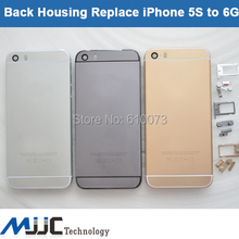 Brand New back Cover Housing Door Back Case For iPhone 5 5S replace To 6G 6s Gold Silver Gray Free Shipping