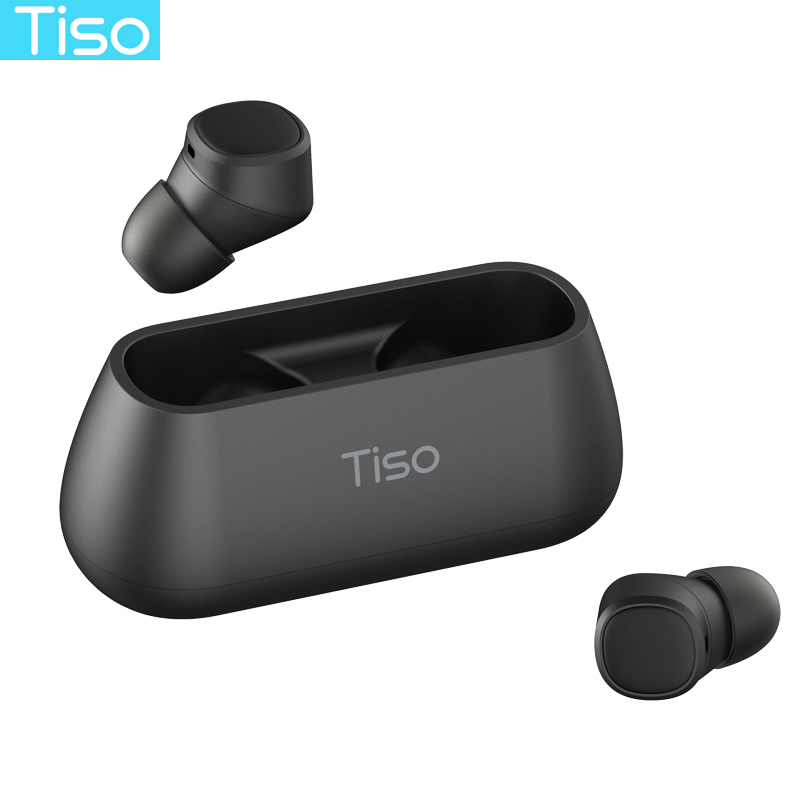 Tiso i4 Bluetooth 5.0 earphones TWS true wireless stereo 3D headphone sports IPX5 waterproof headset with dual microphone Наушники
